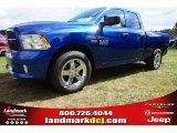 2014 Blue Streak Pearl Coat Ram 1500 Express Quad Cab #97824423