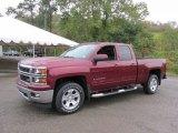 2015 Deep Ruby Metallic Chevrolet Silverado 1500 LT Z71 Double Cab 4x4 #97863631