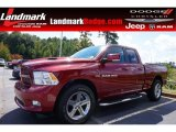 2012 Deep Cherry Red Crystal Pearl Dodge Ram 1500 Sport Quad Cab #97911950
