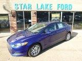 2015 Deep Impact Blue Metallic Ford Fusion SE #97937837