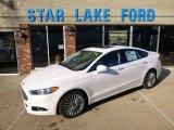 2015 White Platinum Metallic Ford Fusion Titanium AWD #97937836