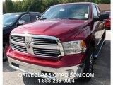2014 Deep Cherry Red Crystal Pearl Ram 1500 Big Horn Quad Cab 4x4 #97937789