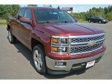2015 Deep Ruby Metallic Chevrolet Silverado 1500 LT Double Cab #97971711