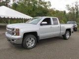 2015 Silver Ice Metallic Chevrolet Silverado 1500 LT Double Cab 4x4 #97971433
