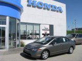 2007 Galaxy Gray Metallic Honda Civic LX Sedan #9507575