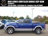 2014 Blue Streak Pearl Coat Ram 1500 Laramie Crew Cab 4x4 #98016768