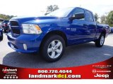 2014 Blue Streak Pearl Coat Ram 1500 Express Quad Cab #98053489