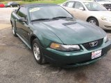 2001 Tropic Green metallic Ford Mustang V6 Convertible #98093191