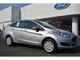 2015 Ingot Silver Metallic Ford Fiesta S Sedan #98092883