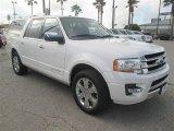 2015 White Platinum Metallic Tri-Coat Ford Expedition EL Platinum #98092811
