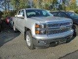 2015 Silver Ice Metallic Chevrolet Silverado 1500 LT Double Cab 4x4 #98092660