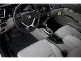2015 Honda Civic LX Sedan Gray Interior