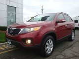 2011 Spicy Red Kia Sorento LX #98150195