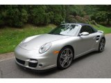 2008 Arctic Silver Metallic Porsche 911 Turbo Cabriolet #98218732