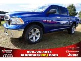 2014 Blue Streak Pearl Coat Ram 1500 Big Horn Crew Cab #98218794