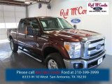 2015 Bronze Fire Ford F250 Super Duty XLT Crew Cab 4x4 #98247490