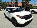 2014 White Platinum Ford Explorer Sport 4WD #98247519