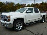 2015 White Diamond Tricoat Chevrolet Silverado 1500 LTZ Crew Cab 4x4 #98287518