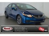 2015 Dyno Blue Pearl Honda Civic EX Sedan #98325546