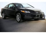 2015 Crystal Black Pearl Honda Civic LX Coupe #98325718