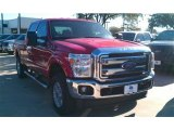 2015 Vermillion Red Ford F250 Super Duty XLT Crew Cab 4x4 #98325599