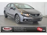 2015 Modern Steel Metallic Honda Civic EX-L Sedan #98325552