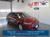 2015 Ruby Red Metallic Ford Fusion S #98356312