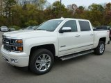 2015 White Diamond Tricoat Chevrolet Silverado 1500 High Country Crew Cab 4x4 #98426342