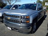 2015 Silver Ice Metallic Chevrolet Silverado 1500 WT Crew Cab 4x4 #98502442
