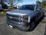 2015 Silver Ice Metallic Chevrolet Silverado 1500 WT Double Cab #98502452