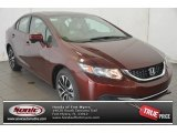 2015 Crimson Pearl Honda Civic EX Sedan #98547650
