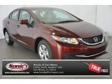 2015 Crimson Pearl Honda Civic LX Sedan #98547649