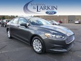 2015 Magnetic Metallic Ford Fusion S #98637179