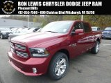 2015 Deep Cherry Red Crystal Pearl Ram 1500 Sport Crew Cab 4x4 #98637341