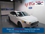 2015 White Platinum Metallic Ford Fusion Titanium #98637110