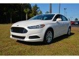 2015 White Platinum Metallic Ford Fusion SE #98682345
