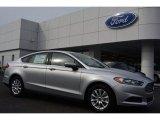 2015 Ingot Silver Metallic Ford Fusion S #98815524