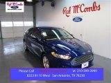 2015 Deep Impact Blue Metallic Ford Fusion SE #98854286