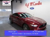 2015 Ruby Red Metallic Ford Mustang EcoBoost Premium Coupe #98889780