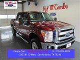 2015 Ruby Red Ford F250 Super Duty XLT Crew Cab 4x4 #98889779