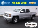 2015 Silver Ice Metallic Chevrolet Silverado 1500 LTZ Crew Cab 4x4 #98890147