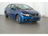 2015 Dyno Blue Pearl Honda Civic EX-L Sedan #98889729