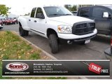2008 Bright White Dodge Ram 3500 SLT Quad Cab 4x4 Dually #98930204