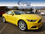 2015 Triple Yellow Tricoat Ford Mustang GT Premium Coupe #98982456