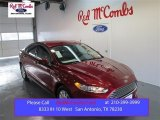 2015 Ruby Red Metallic Ford Fusion S #98982389