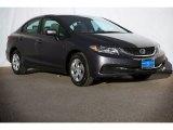 2015 Modern Steel Metallic Honda Civic LX Sedan #98982497