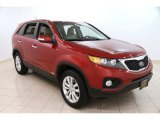 2011 Dark Cherry Kia Sorento EX AWD #99034598