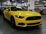 2015 Triple Yellow Tricoat Ford Mustang GT Premium Coupe #99034417