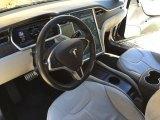 2013 Tesla Model S P85 Performance Grey Interior
