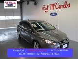 2014 Sterling Gray Ford Focus Titanium Hatchback #99137894